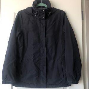 Lands End fleece lined Rain jacket